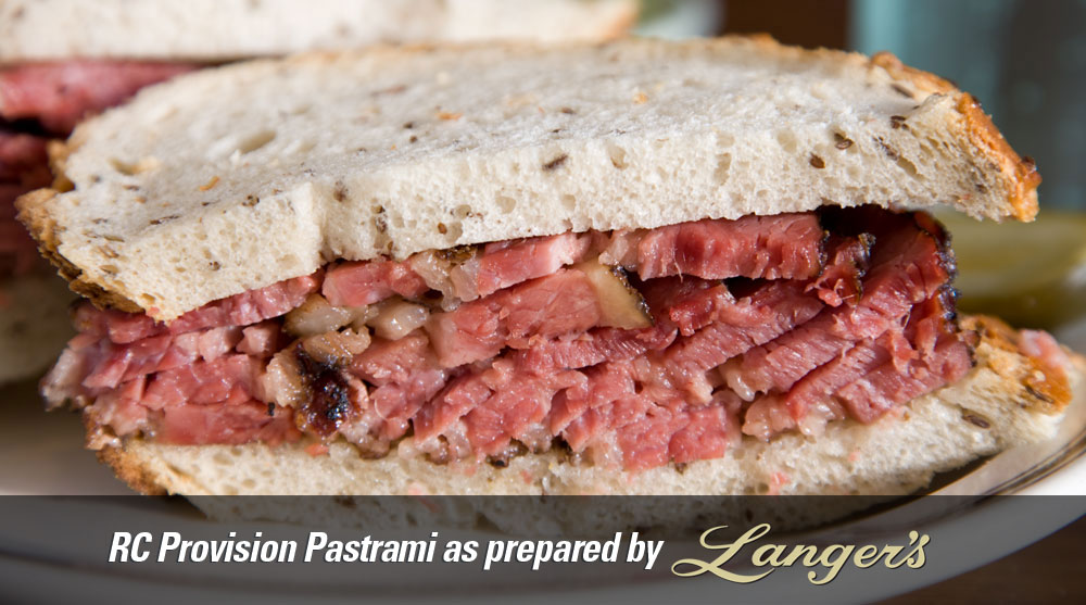 RC Provision Pastrami as prepared by Langer's Deli in Los Angeles
