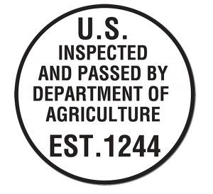 USDA EST. 1244 inspection seal